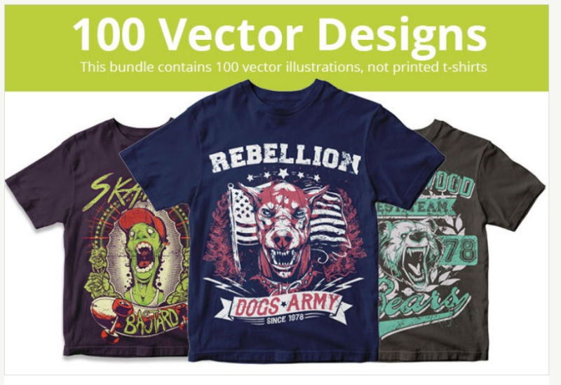 DESIGN100vector t shirt designsThefancy