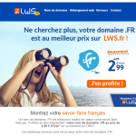 LWS Un nom de domaine .FR est idéal pour mettre en valeur votre savoir-faire français